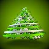 Green christmas tree abstract modern 3d rendering background Royalty Free Stock Photos