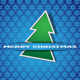 Green Christmas tree-applique Royalty Free Stock Image