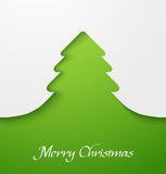 Green christmas tree applique. Green abstract christmas tree applique. Vector illustration Royalty Free Stock Photography