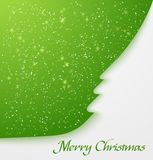 Green christmas tree applique Royalty Free Stock Photos