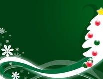 Green Christmas Tree Backgroun Stock Image