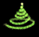 Green christmas tree background. Green sparkling christmas tree background Royalty Free Stock Photos