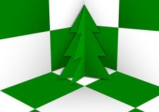 Green christmas tree background Stock Photos