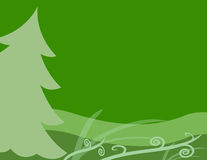Green Christmas Tree Background Royalty Free Stock Photo