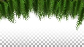 Green Christmas Tree Background Template Ready For Text stock photography