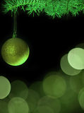 Green christmas tree with baubles royalty free stock photography