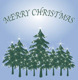 Green Christmas Tree Card 2 Royalty Free Stock Photography