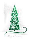 Green Christmas tree, cdr vector. Greeting card with abstract green christmas tree, vector format Stock Photography