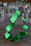 Green Christmas Tree Cookie Cutter Stock Photography