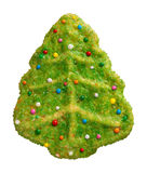 Green Christmas Tree Cookie Stock Photos