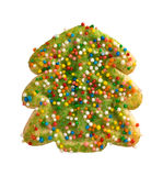 Green Christmas Tree Cookie Royalty Free Stock Photo