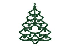 Green christmas tree decoration Stock Image