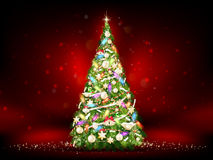 Green christmas tree. EPS 10 Royalty Free Stock Photo