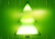 Green Christmas Tree. Graphic background illustration Stock Images