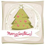 Green christmas tree holiday card Stock Photography