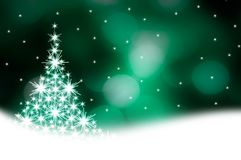 Green Christmas tree illustration Stock Photography