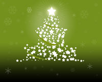 Green Christmas Tree illustration Royalty Free Stock Photography
