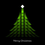 Green Christmas Tree royalty free illustration