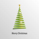 Green Christmas Tree Origami Vector. Illustration Royalty Free Stock Photography
