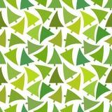 Green Christmas tree pattern Stock Image
