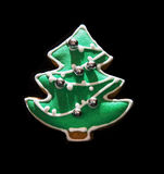 Green Christmas tree shaped gingerbread cookie Stock Photography