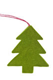 Green christmas tree sign Stock Photos