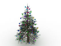 Green Christmas tree with toys №4 Royalty Free Stock Images