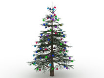 Green Christmas tree with toys №5 Royalty Free Stock Photography