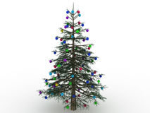 Green Christmas tree with toys №6 Royalty Free Stock Photos