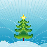Green christmas tree,vector  Royalty Free Stock Photo