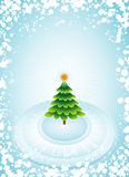 Green christmas tree,vector  Royalty Free Stock Images