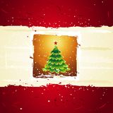 Green christmas tree, vector Royalty Free Stock Photos