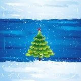 Green christmas tree, vector royalty free illustration
