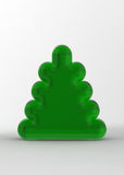 Green Christmas Tree on the White Background Stock Photos