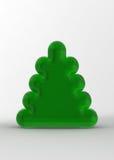 Green Christmas Tree on the White Background Stock Photos