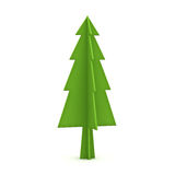Green christmas tree  on white background for christmas decoration Stock Photo