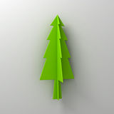 Green christmas tree on white background for christmas decoration with shadow Royalty Free Stock Image