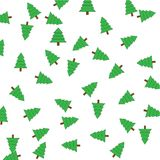 Green Christmas tree on a white background Royalty Free Stock Photo