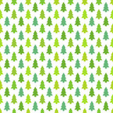 Green Christmas trees pattern Royalty Free Stock Images
