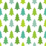 Christmas trees seamless pattern Royalty Free Stock Photos