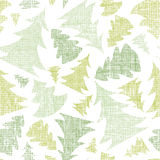 Green Christmas trees silhouettes textile seamless Royalty Free Stock Image