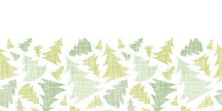 Green Christmas trees silhouettes textile Stock Photo