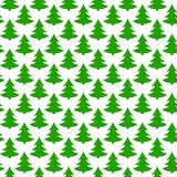 Green Christmas trees on white background Royalty Free Stock Photography