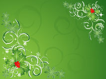 Green Christmas vector Stock Photos