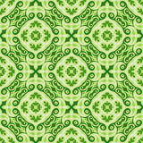Green Christmas vector background seamless tiles Royalty Free Stock Image