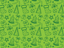 Green Christmas wallpaper Stock Images