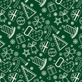 Green Christmas wallpaper Royalty Free Stock Images