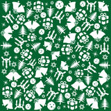 Green Christmas wrapping Stock Photos