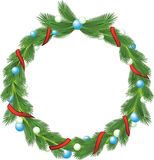 Green christmas wreath Stock Photography