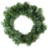 Green christmas wreath Royalty Free Stock Image